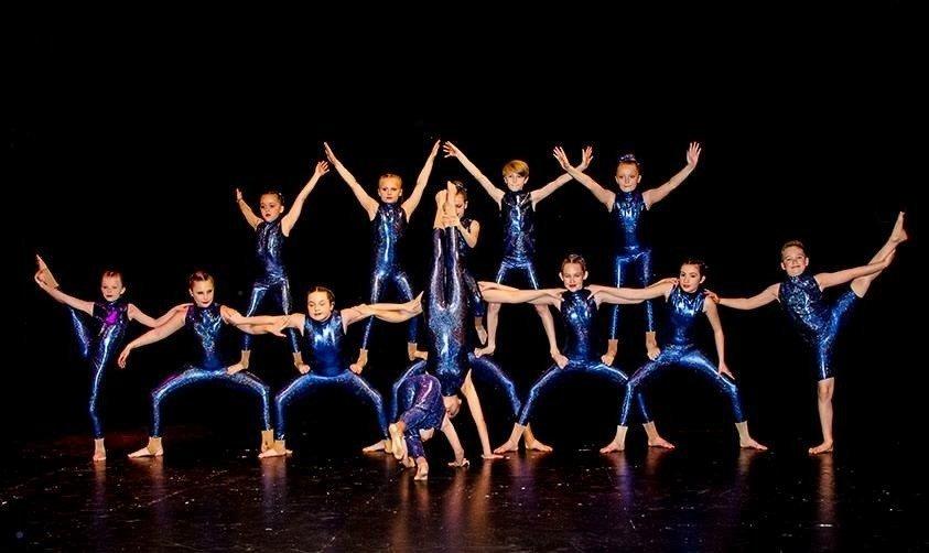 team of children dancing