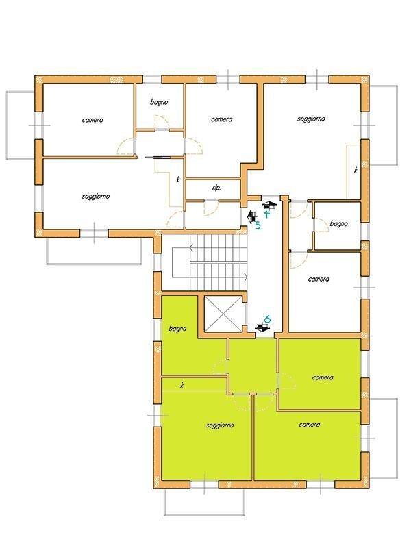Casetta A-B -  Interno 6 - Primo e secondo piano