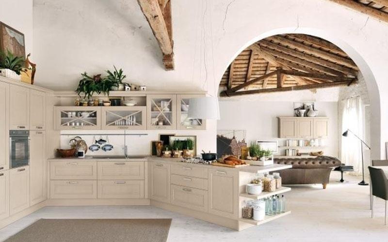 Cucine componibili enna arredi celesti - Cucine in legno chiaro ...