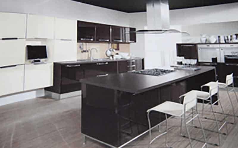 isola cucina nera