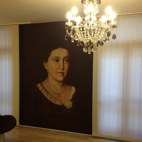 Interno del parrucchiere Madame Coiffeur a Vicenza