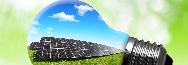 Immagine di un impianto solare termico dentro una lampadina
