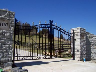 Our of our custom fencing projects in Cincinnati, OH