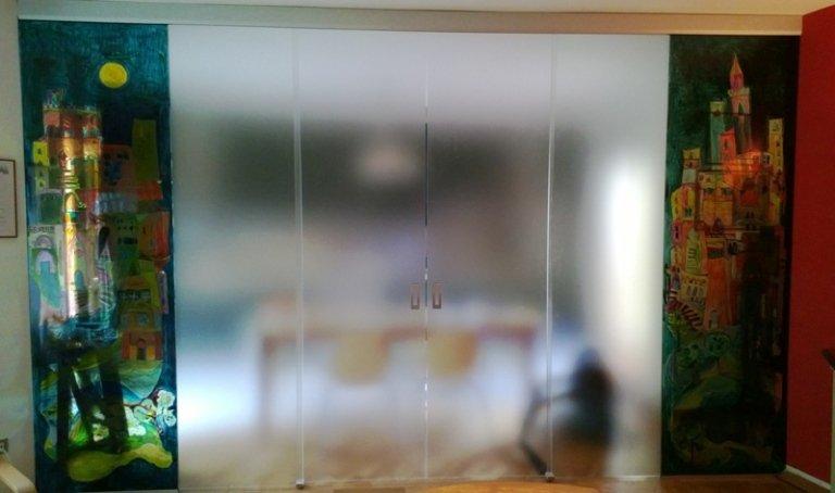 vetri satinati per porte