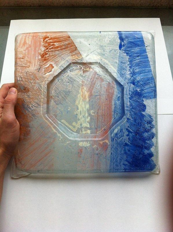 posacenere in vetro colorato
