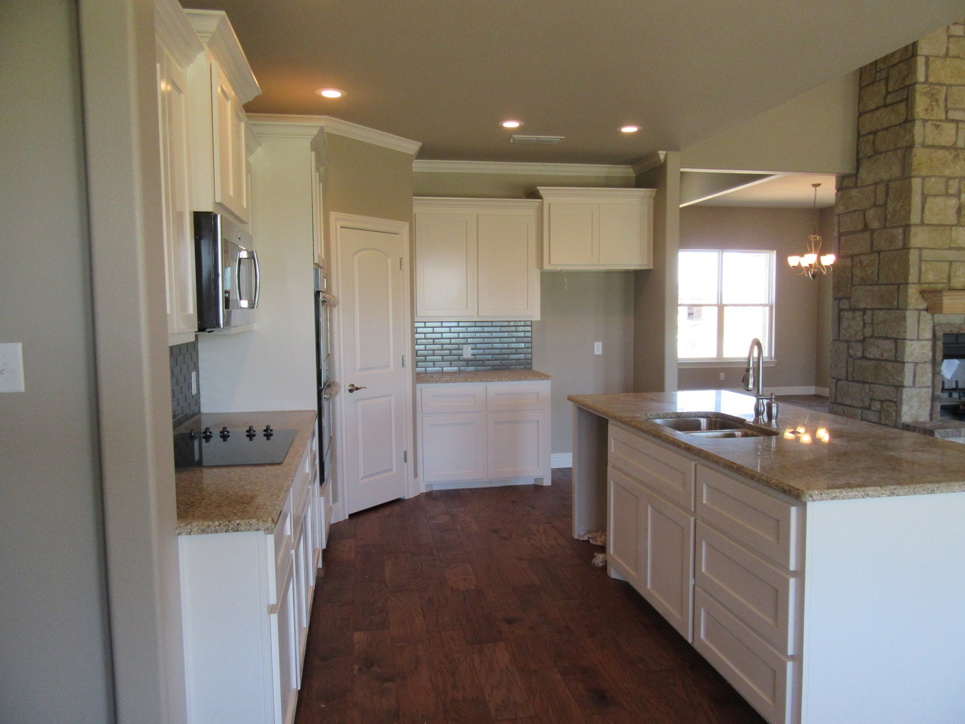 new kitchen in new home built by cornerstone custom homes