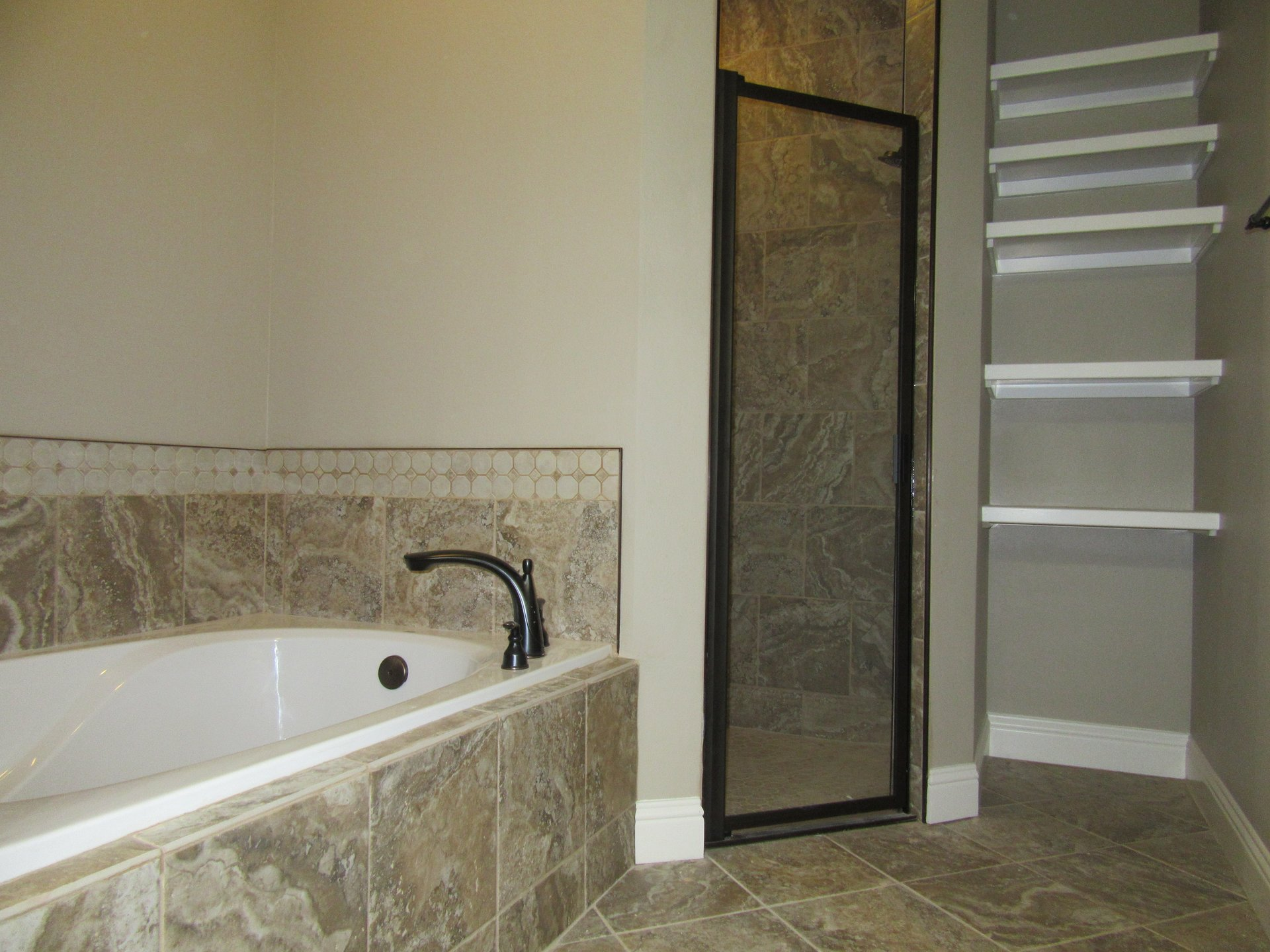 bathroom in new home built by Cornerstone Custom Homes