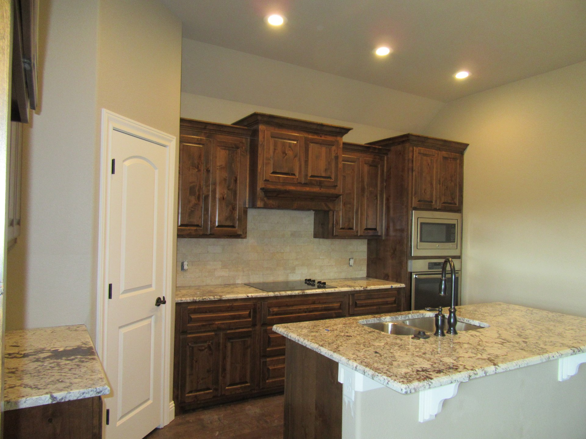 kitchen in new home built by Cornerstone Custom Homes