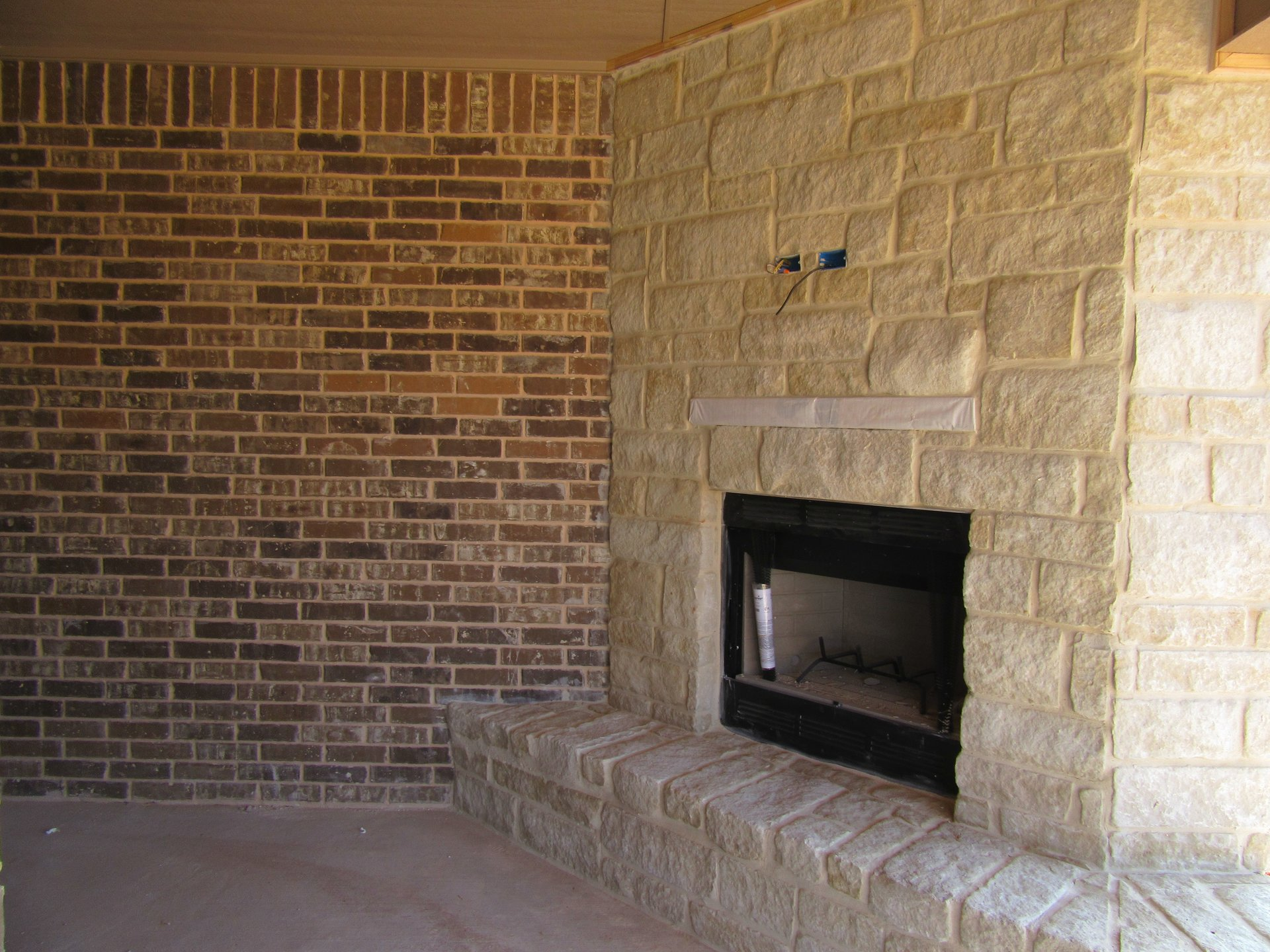 fireplace in new home built by Cornerstone Custom Homes