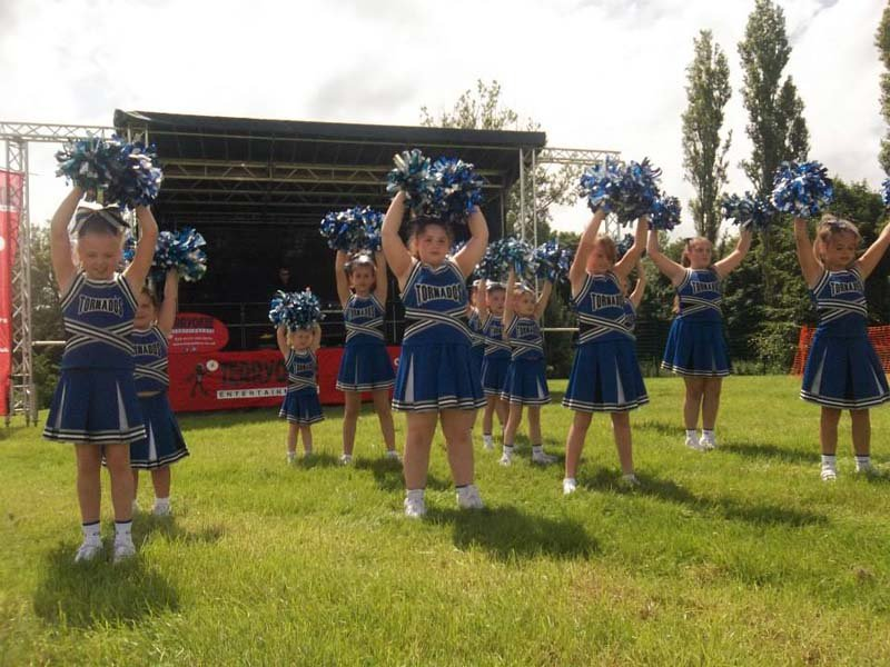 Group of young girls as cheerleader