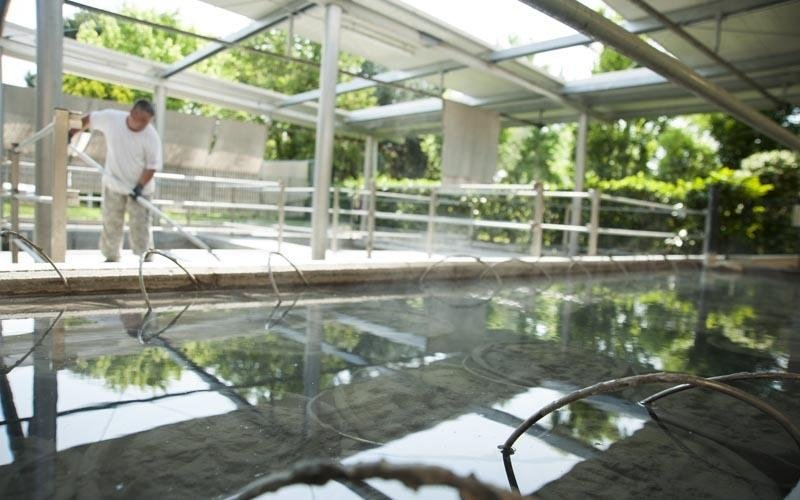 Thermalbecken in Abano Terme