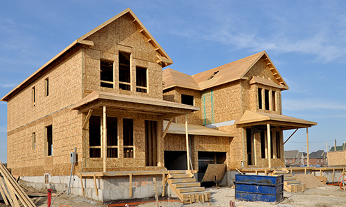 New home construction in Waverly