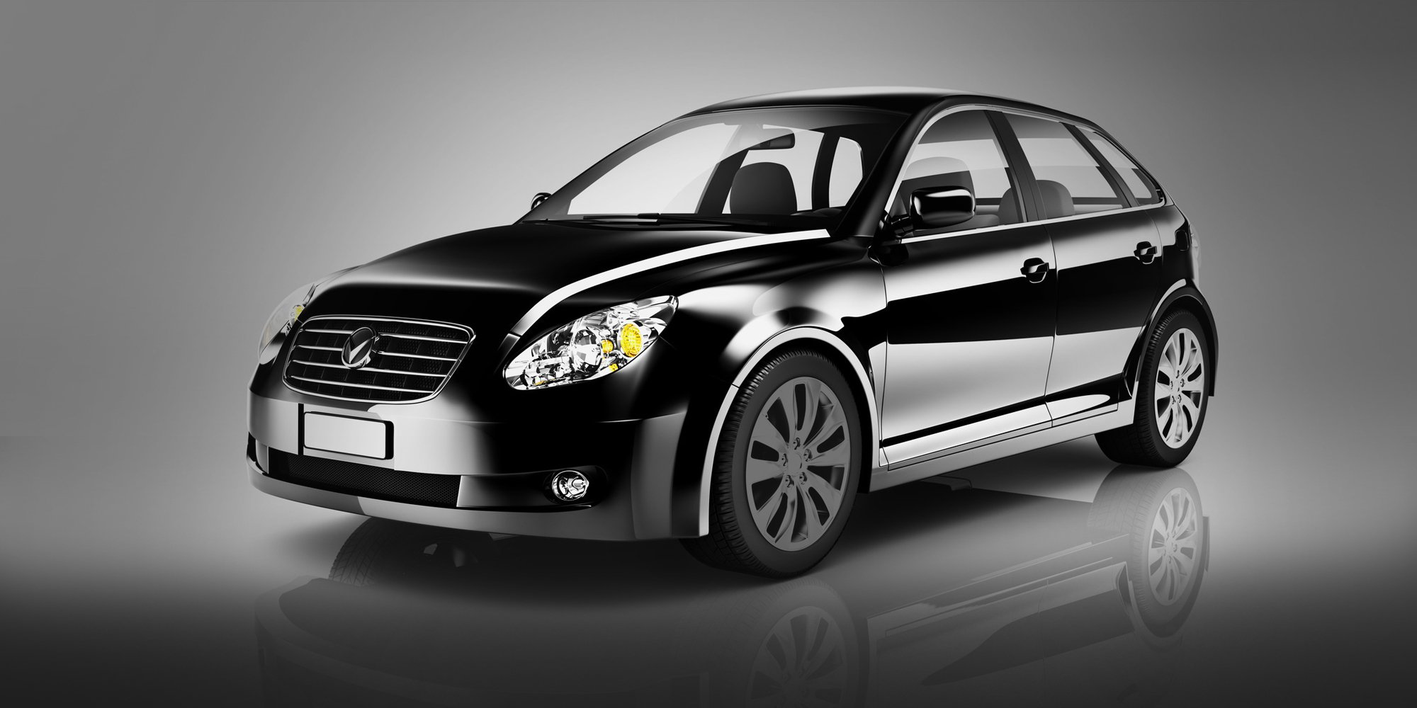 A black Mercedes