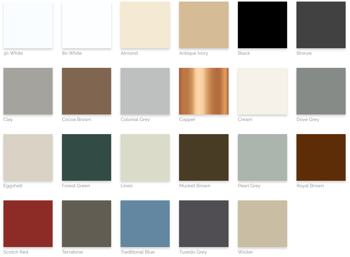 Seamless Gutter Color Options