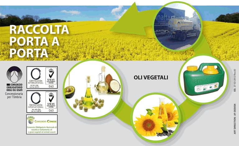 Smaltimento oli vegetali