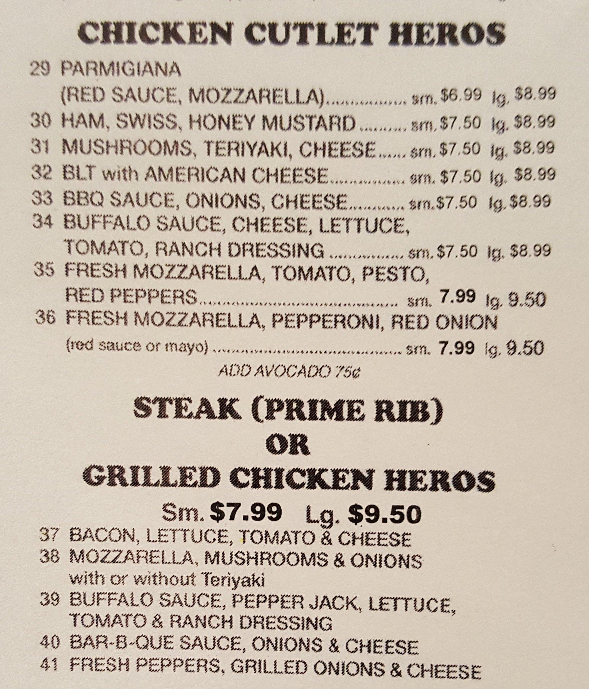 Steak and Chicken Heros