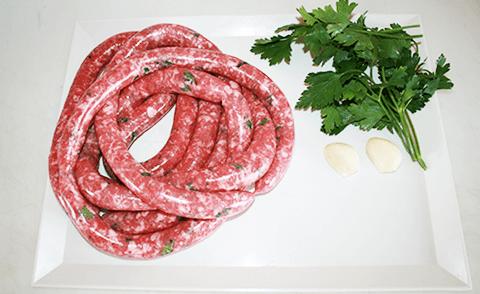 salsiccia prezzemolo e aglio