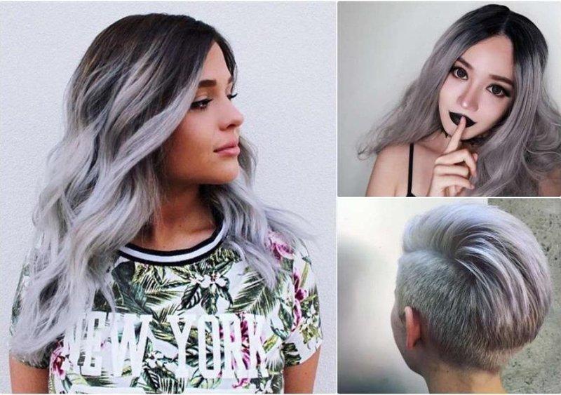 tendenza colore capelli bianchi o argento