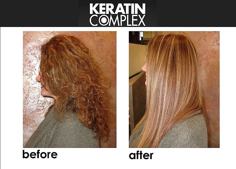 PUBBLICITARIA DI  KERATIN COMPLEX-BEFORE-AFTER