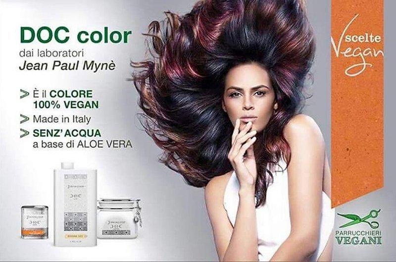 pubblicità con foto di una modella JEAN PAUL MYNE DOC