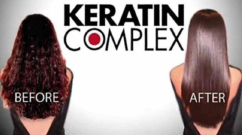 pubblicità con capelli di donne KERATIN COMPLEX