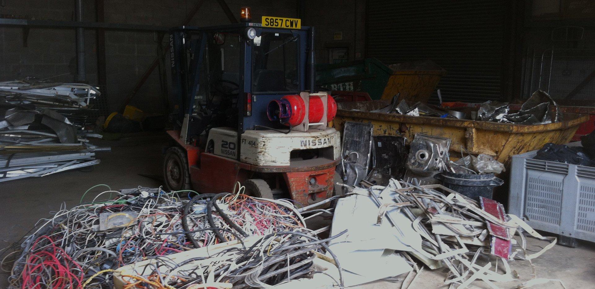 scrap area