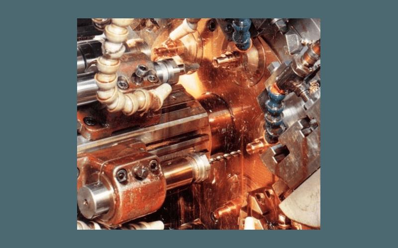 Detail of lathe machining