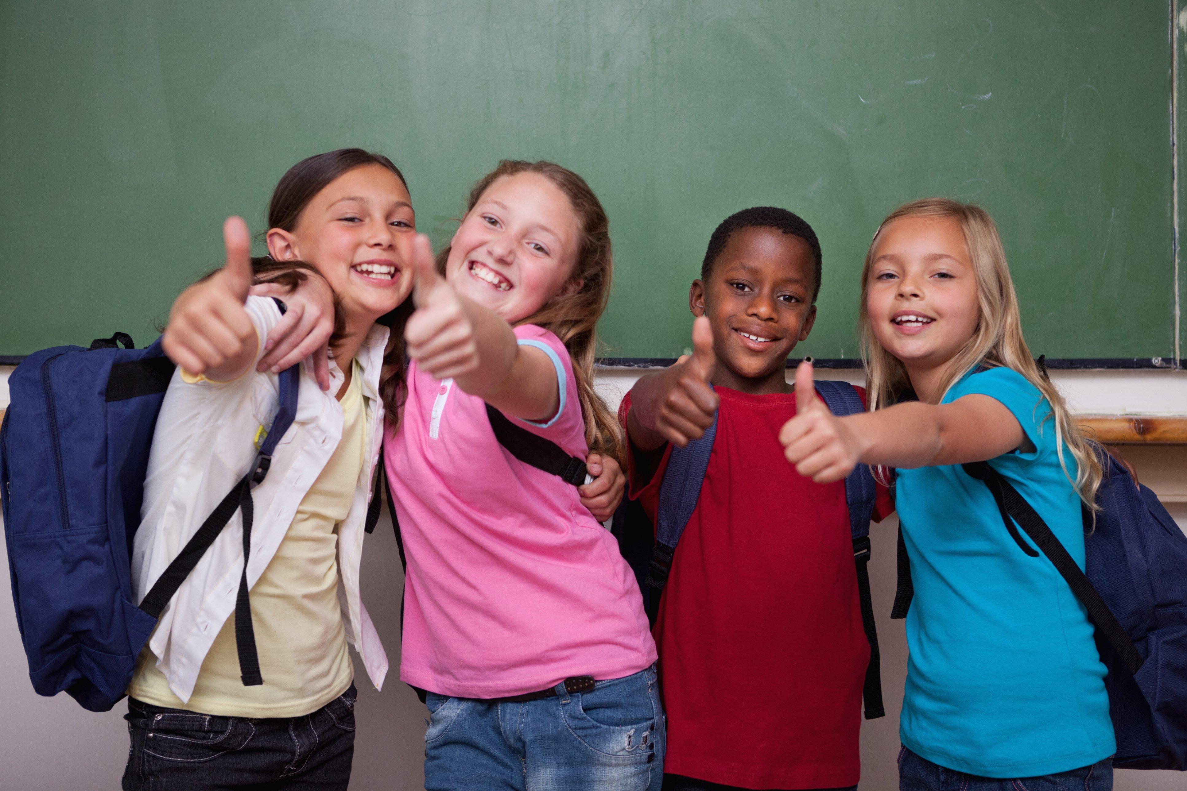special needs children happy thumbs up