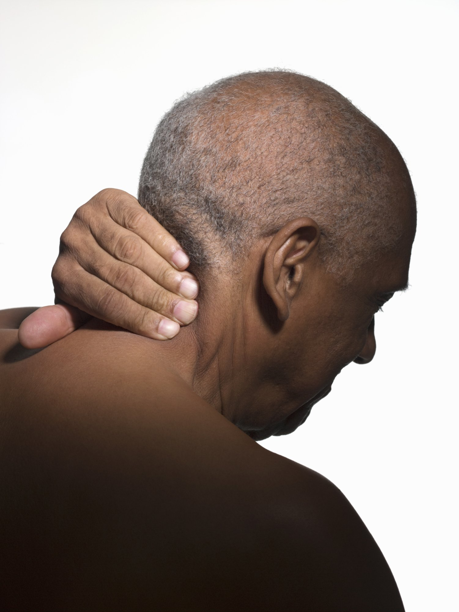 old man neck pain body massage