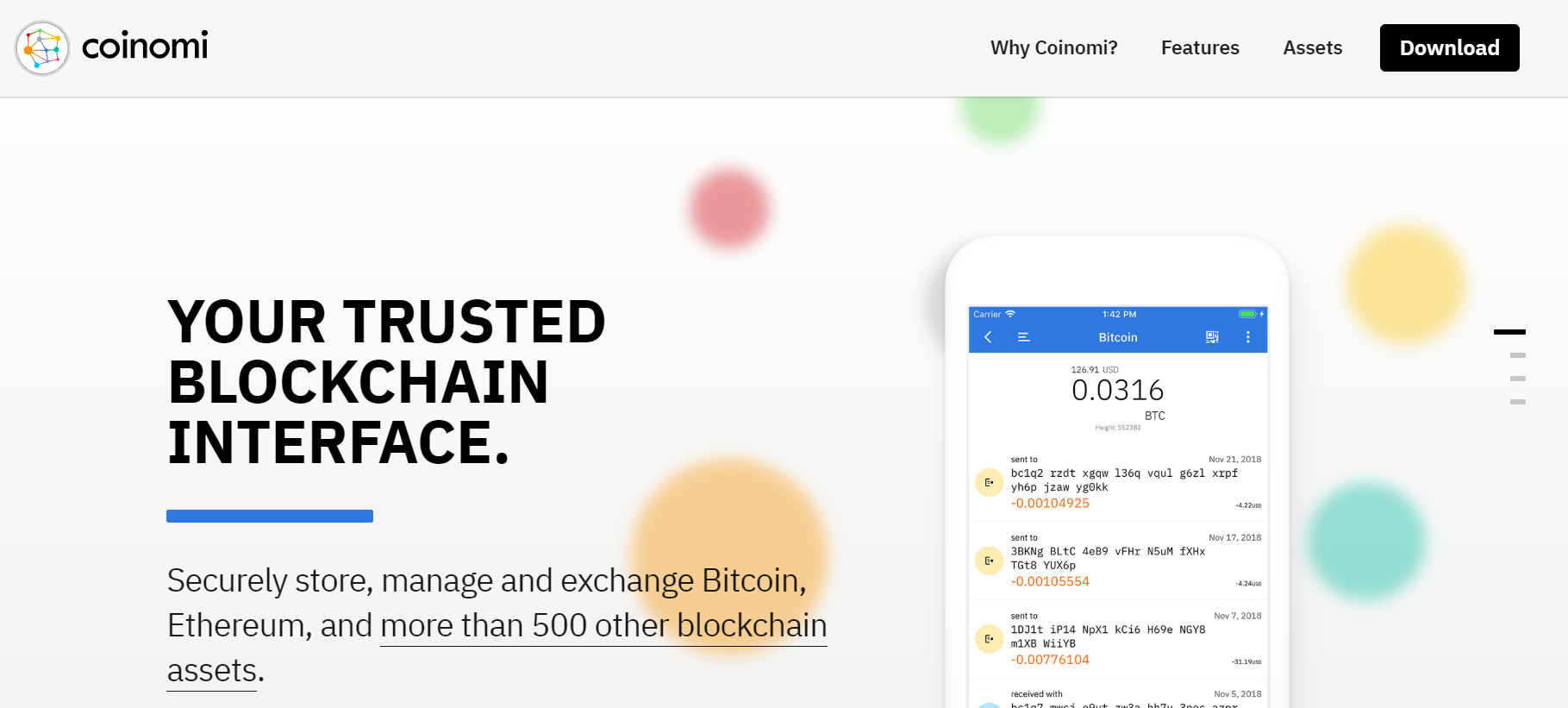 Mobile Crypto has never been easier thanks to Coinomi Decentralized mobile wallet