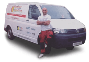 Our plumber and the van