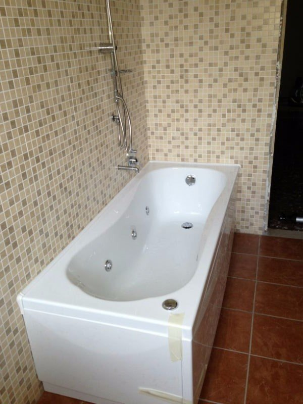 una vasca da bagno