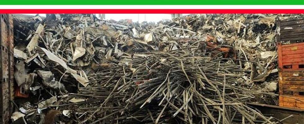 recupero e preparazione per il riciclaggio di rottami metallici