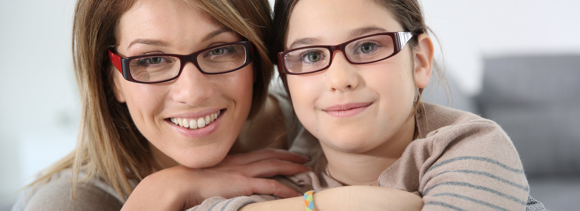 Lady and a girl with opticals
