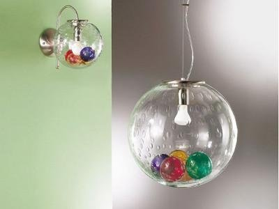sospensione palle colorate