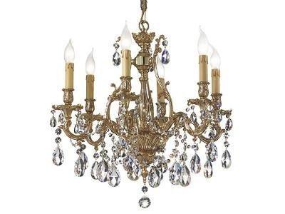 lampadario bronzo gocce cristallo