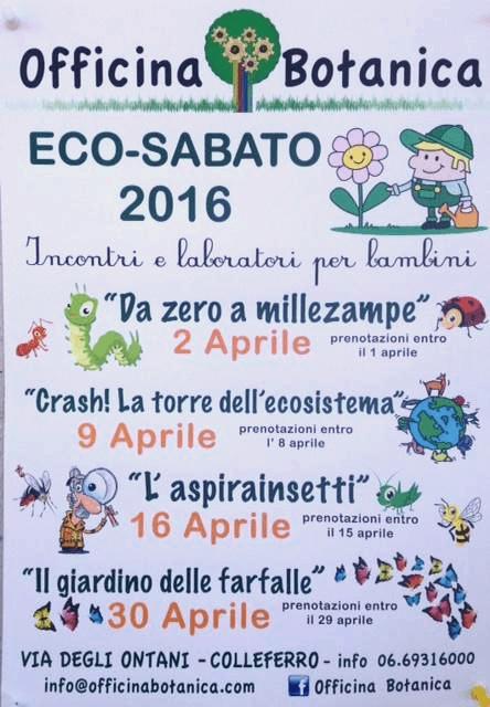 evento officina botanica colleferro