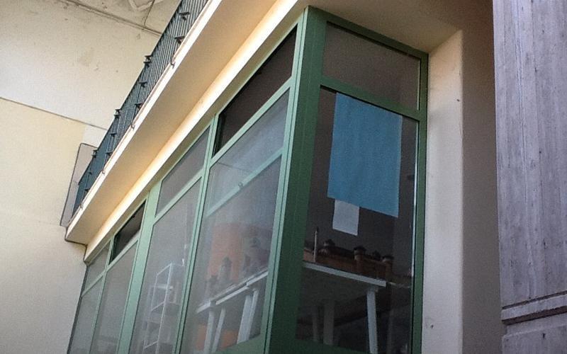 copertura in alluminio balcone