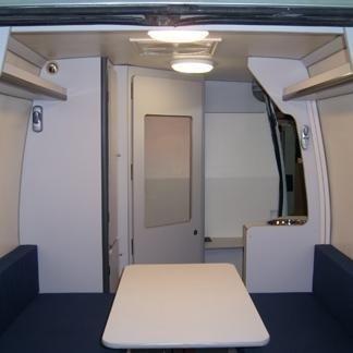 Interno veicolo prove audiometriche