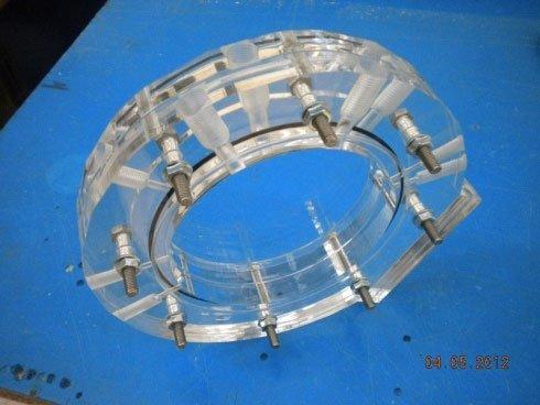 modellino ruota in plexiglass