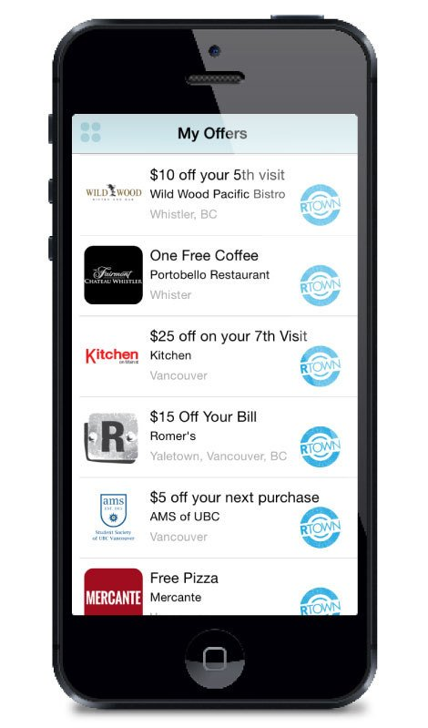 Multiple offers and locations loyalty app