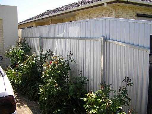 1800 High Post And Rail Fence Corrugated Sheet