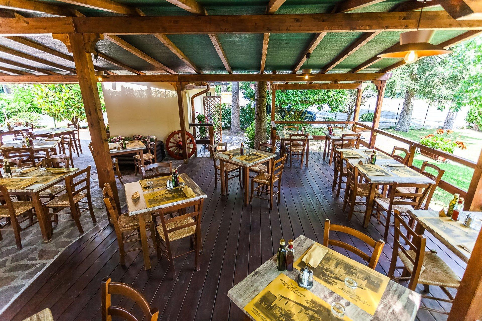ristorante con giardino a barberino di mugello la