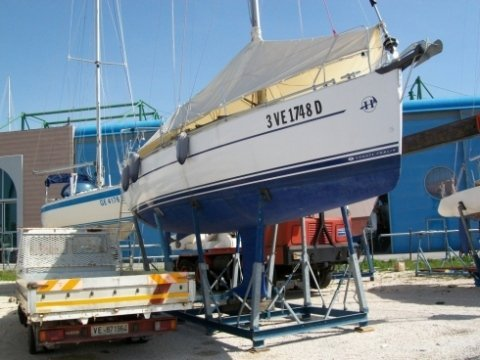 sabbiatura barche,fondo barche