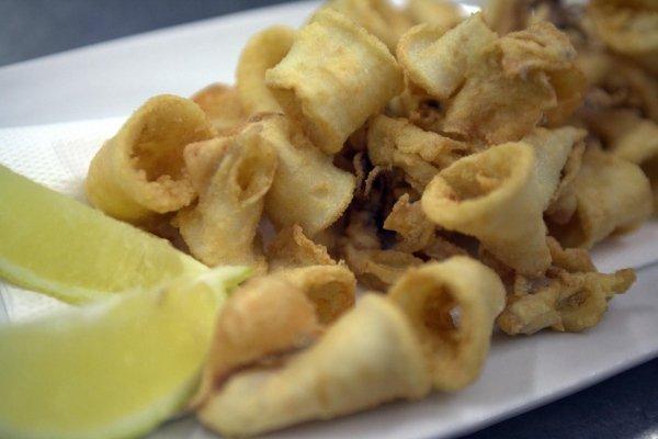 fritture di pesce e calamari