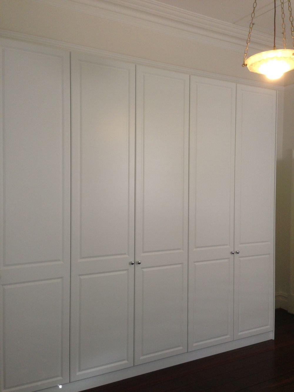 full height 5 door hinged wardrobe in vinyl wrap