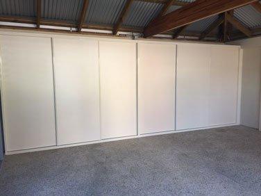 sliding door garage storage