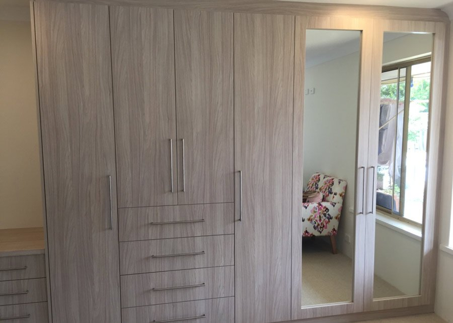 One of our custom bedroom wardrobes in Perth