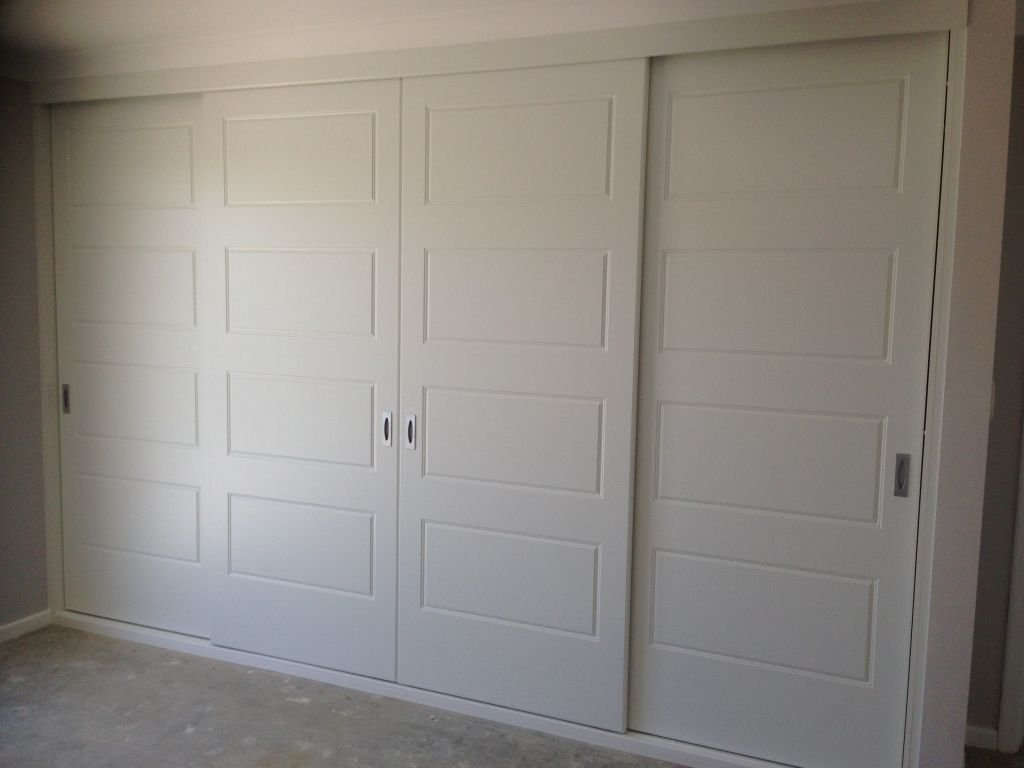 four panel vinyl wrap sliding doors