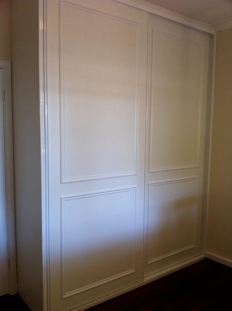 white melamine doors with moulding